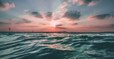 Meer, Ozean, Sonnenuntergang