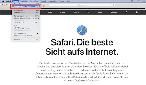 Inkognito-Modus aktivieren, Safari Inkognito-Modus, Safari Inkognito-Modus Desktop, Safari Inkognito-Modus Smartphone