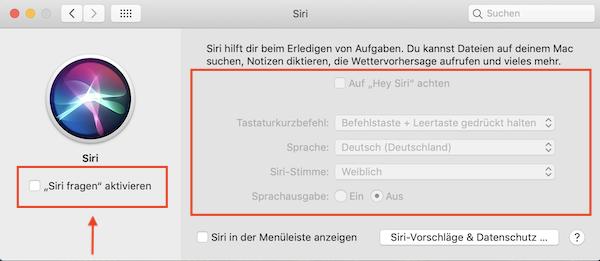 Siri, Siri deaktivieren, Mac, Apple, Sprachassistent