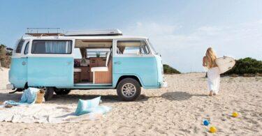 Campervan, Van, VW Bulli, Wohnwagen, Urlaub, Strand, Teneriffa