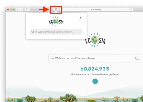Ecosia, Suchmaschine