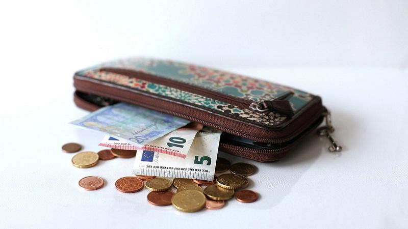 Geldbeutel, Geld, Euro, Cent, Münzen, Umsatz, Gewinn