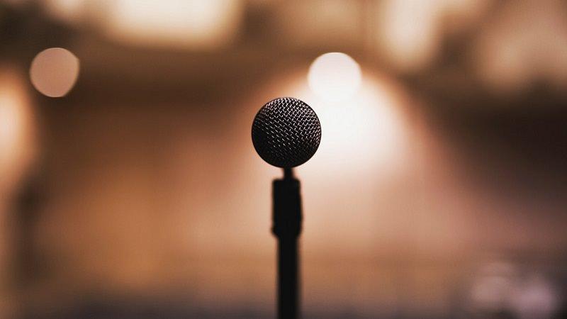 Mikrofon, Bühne, Stage, Publikum, Pitch, Präsentation