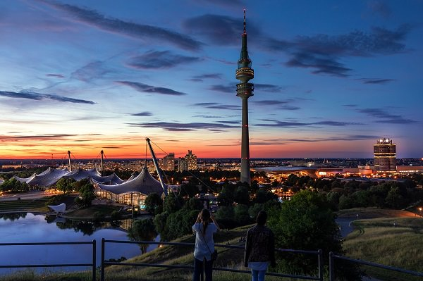 München, Olympiapark, Olympiazentrum, Olympiaturm