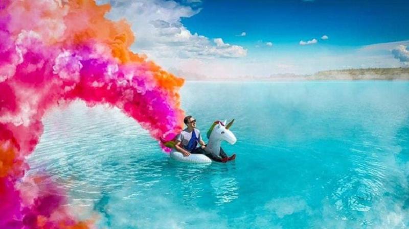 Novosibirsker Malediven, Russland, Instagram, Einhorn