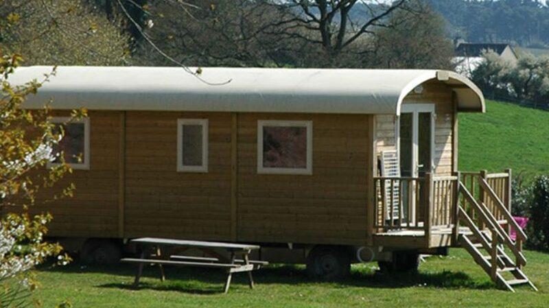 Wohnwagen, Insolite, Campingplatz Baden, Campen