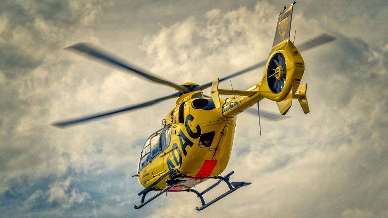 Rettungshubschrauber, ADAC, Hubschrauber, Unfall