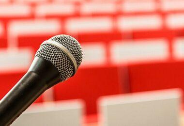 Mikrofon, Rede, Bühne, Präsentation