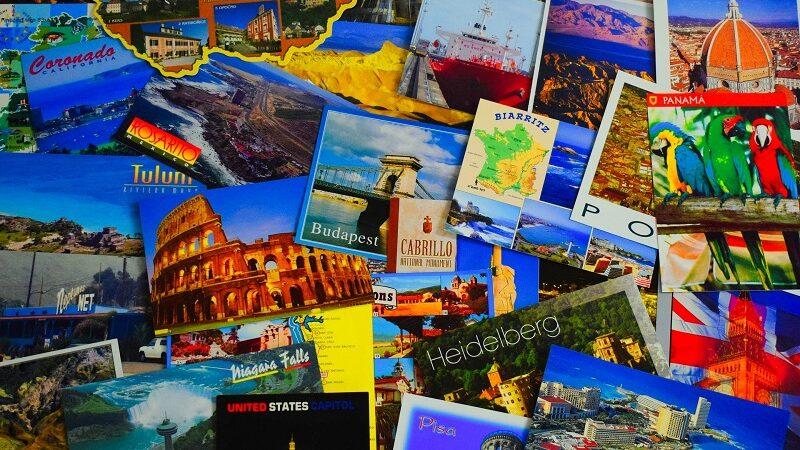 Postkarten, Grußkarten, Urlaub, reisen