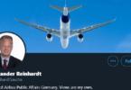 Alexander Reinhardt, Airbus, Twitter