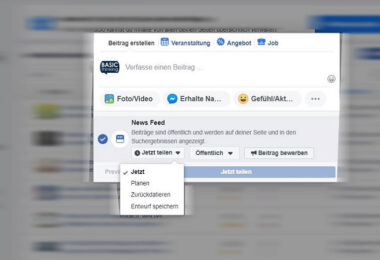 Facebook-Beitrag planen, Facebook-Post planen, Facebook-Beiträge planen, Facebook
