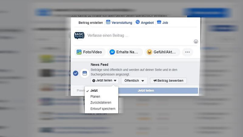 Facebook-Beitrag planen: Aktueller Workaround für Social Media Manager