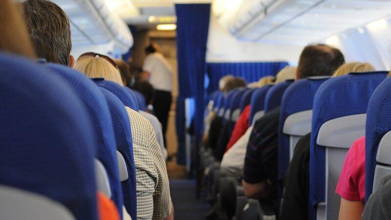 Passagiere, Flugzeug, Sitze