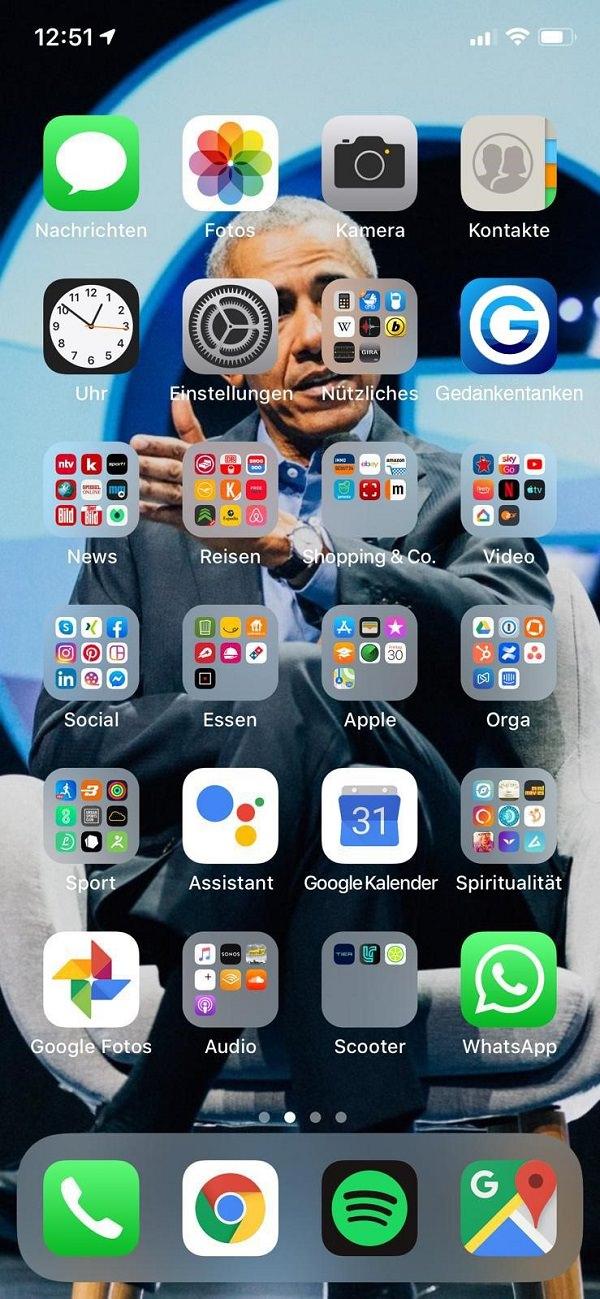 Homescreen, iPhone, Apple, Alexander Müller, GEDANKENtanken, Gedankentanken