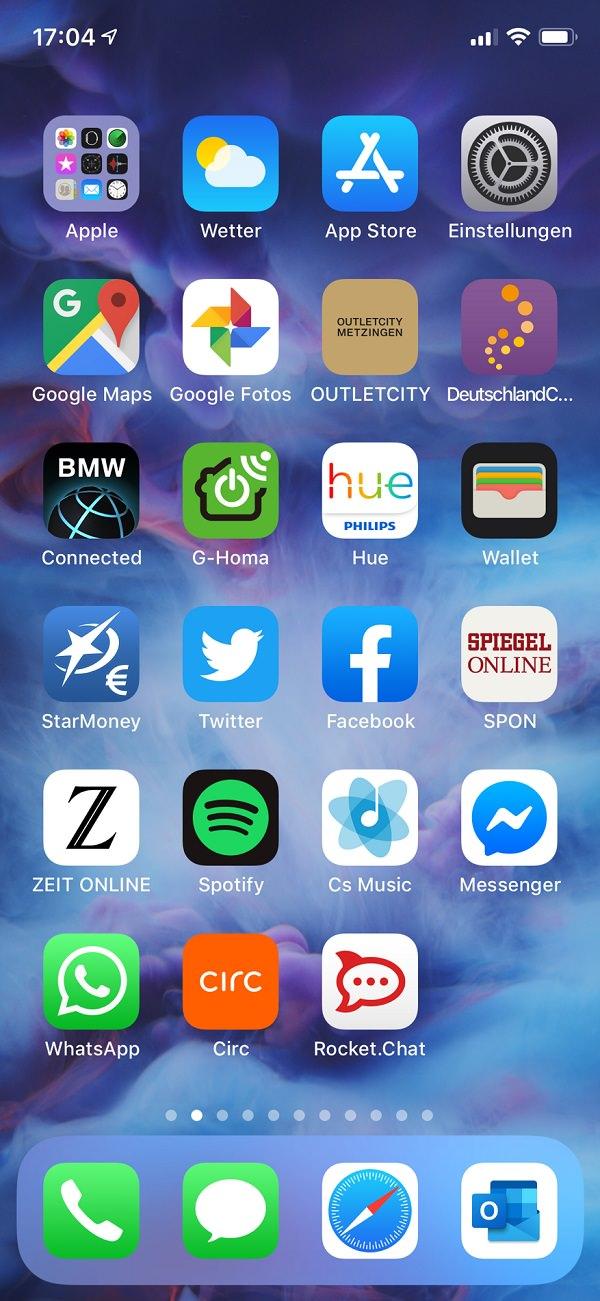 Homescreen, iPhone, Björn Portillo, hmmh AG, Hmmh