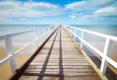 Pier, Meer, Strand, Sand, Urlaub, Sommer