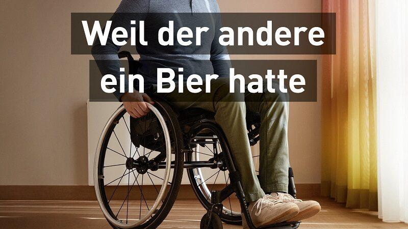 Rollstuhl, Verkehrsunfall, Runter vom Gas