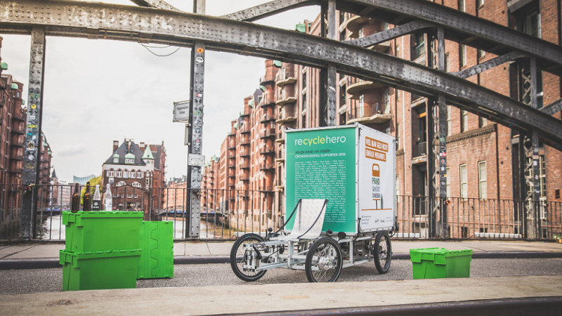 Recyclehero, Hamburg, Recycling, E-Lastenrad