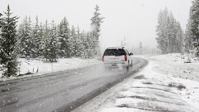 Schnee, Winter, Auto, Straße