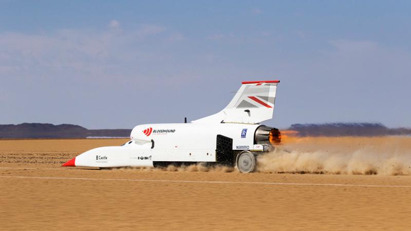 Bloodhound LSR Raketenfahrzeug, Kalahari, Superauto