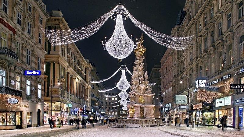 Innenstadt, Weihnachten, Weihnachtsbaum, Wien, stationärer Handel