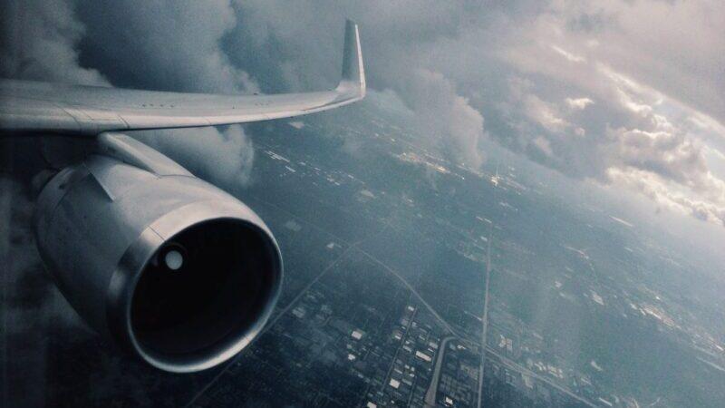 Wetter, Gewitter, Flugzeug