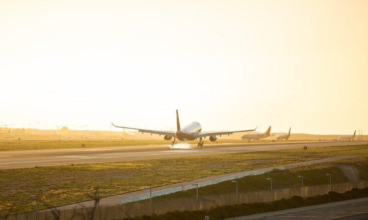 Los Angeles, Flugzeug, Startbahn, Flughafen
