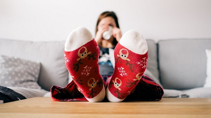 Rentier, Rentiersocken, Weihnachten, Christmas, Streaming, Sofa, Amazon Prime im Dezember