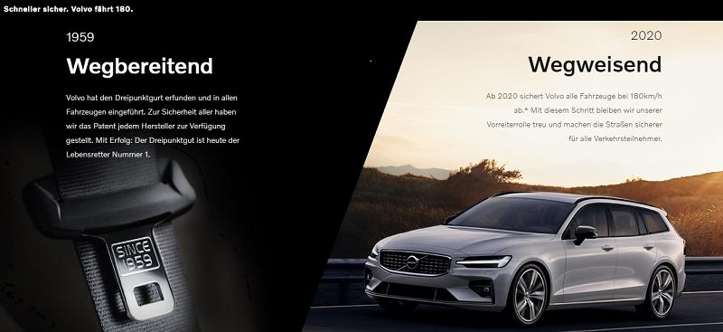 Volvo 180, Sicherheitsgurt, Dreipunktgurt