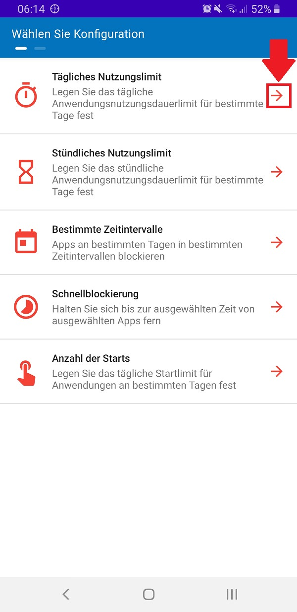 Android App-Limit einrichten, Android App Limit, Stay Focused