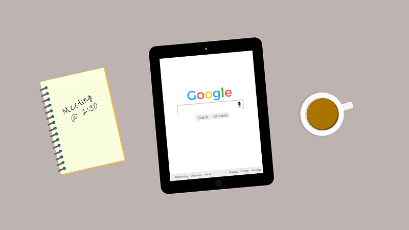 Google, Google Search, Google auf Tablet
