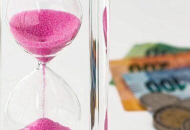 Sanduhr, Geld, Geldscheine, Zeit, Investoren