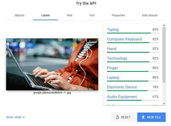 Vision API, Bilder-SEO
