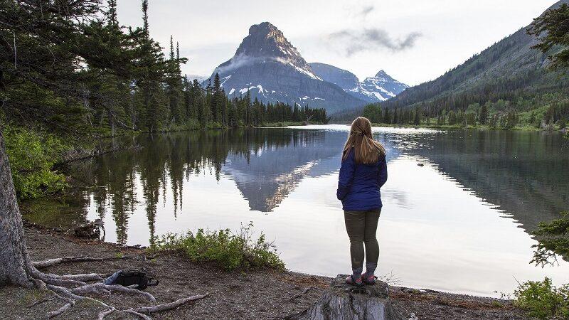 Pray Lake Montana, USA, Landschaft, Natur