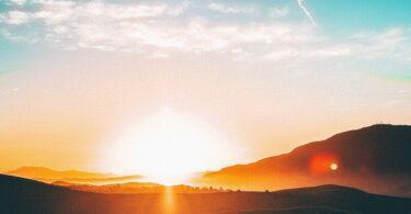 Sonne, Landschaft, Berge
