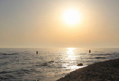 Sonnenuntergang, Strand, Entspannung, Digital Detox