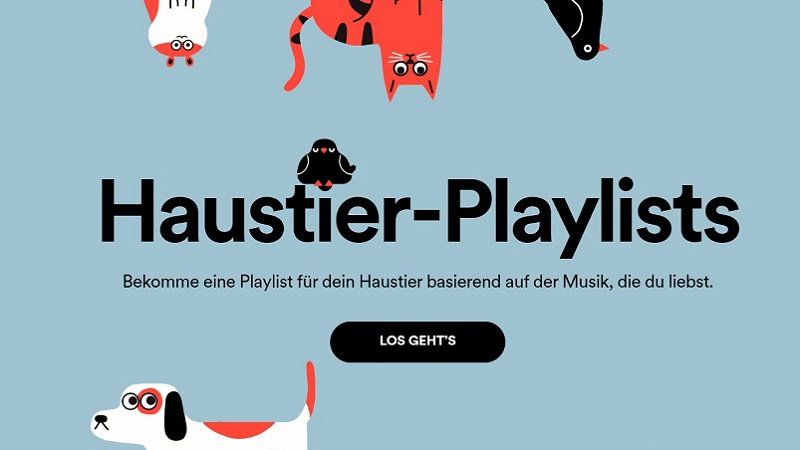 Spotify Haustier-Playlist, Spotify Pet Playlist, Haustier-Playlists