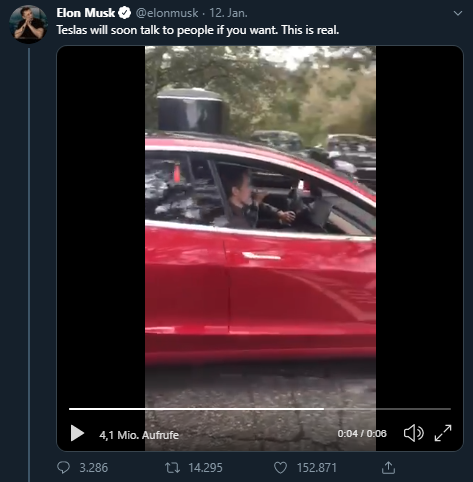 Tesla sprechen, Elon Musk, Twitter