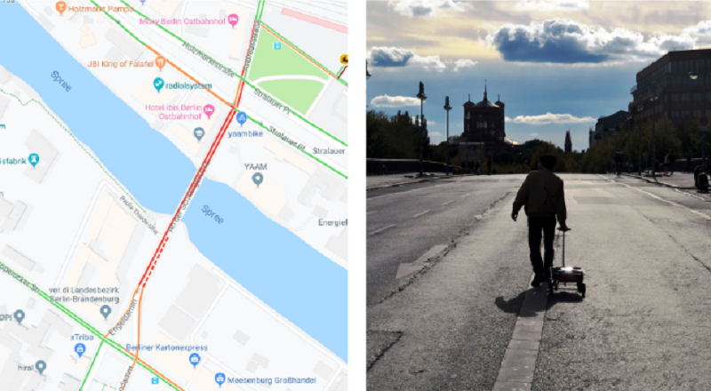 Google Maps, Simon Weckert, Kunst, Berlin, Stau