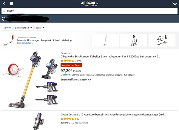 Amazon, Amazon-Marketplace, Dyson, E-Commerce