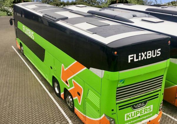 Flixbus Solarmatte, Fernbus, Bus