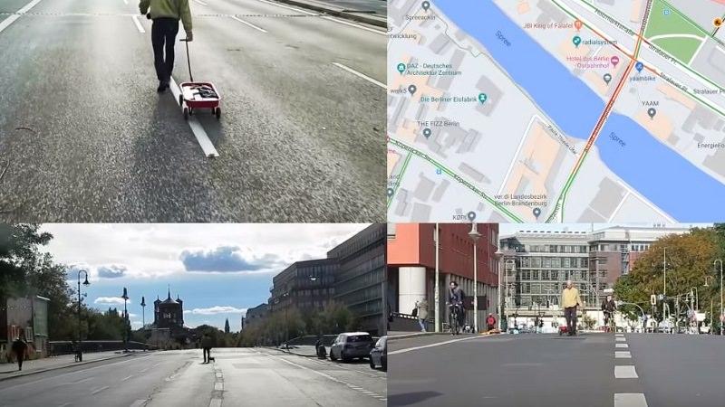 Google Maps Hack, Simon Weckert