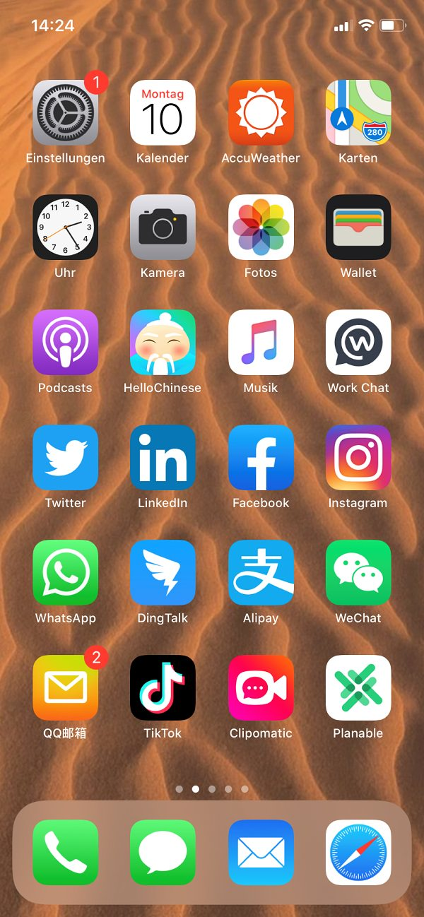 Homescreen, iPhone, Apple, Apps, Christina Richter