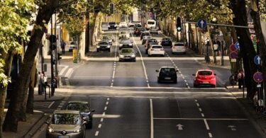 Autos, Straße, Stadt, Verkehr