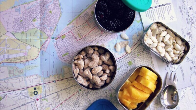Snack, Obst, Nüsse