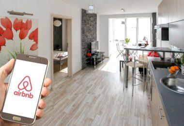 Airbnb Logo, Smartphone, Ferienwohnung