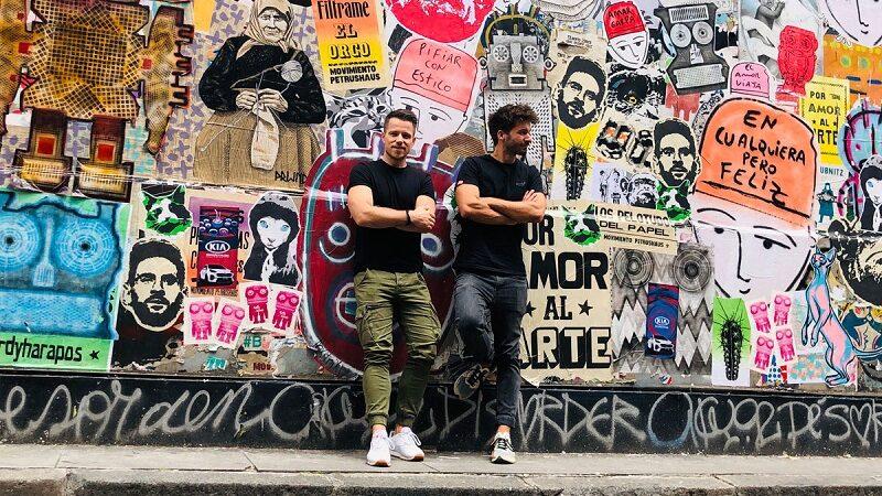 Welttournee der Reisepodcast, Wandmalerei, Kunst, Männer
