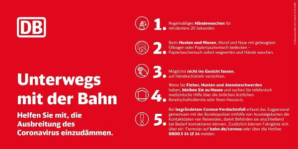 Deutsche Bahn, DB, Zug, Coronavirus, Hygiene