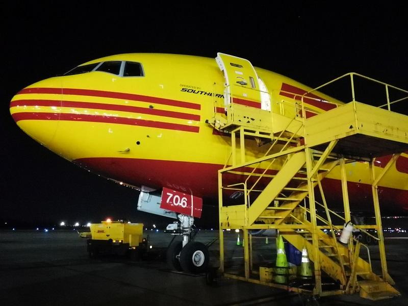 Boeing 777, DHL, Flugzeug, Logistik