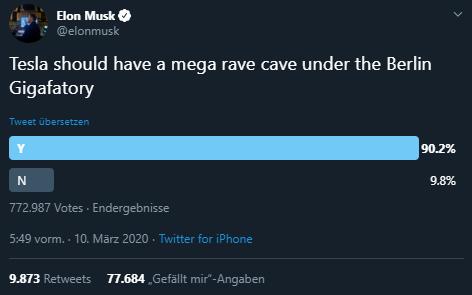 Elon Musk Twitter, Rave Cave, Gigafactory, Tesla